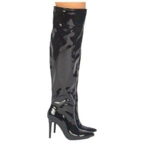 Black Patent Over The Knee Boots